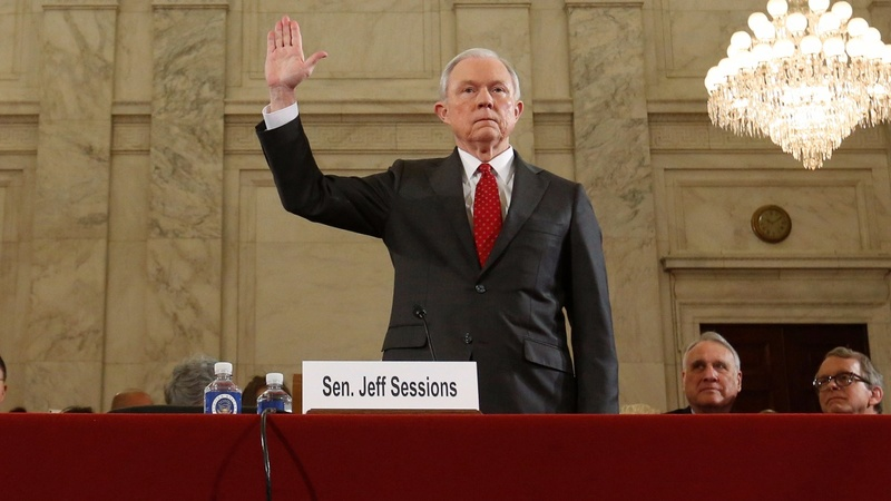 Sessions grilled on racial views at Senate hearings