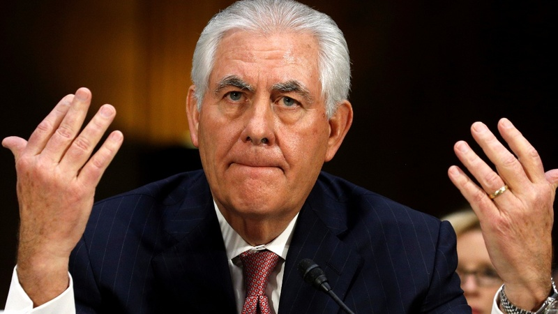 Tillerson hits Russia, warns China at Senate hearing