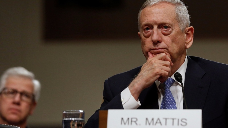 Defense nominee Mattis breaks with Trump on Russia