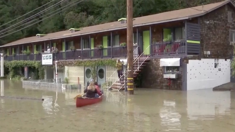 Floodwaters spell relief for parched California