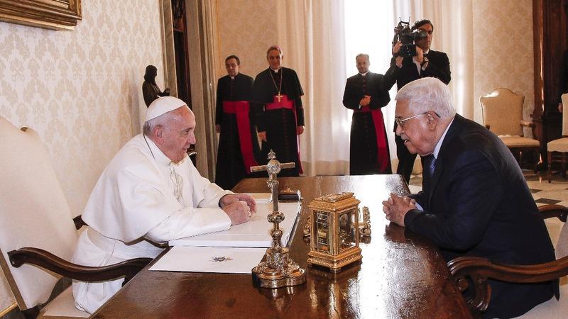 Pope meets Palestinian President Abbas