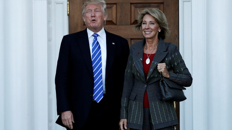 Wealthy charter school fan DeVos sits for Senate probe