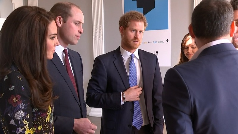 British royals raise awareness of mental health