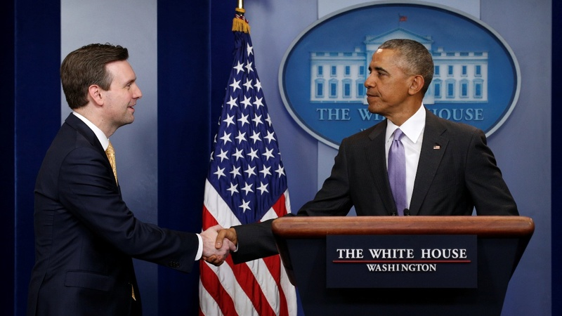 VERBATIM: Obama bids farewell to Press Secretary Earnest
