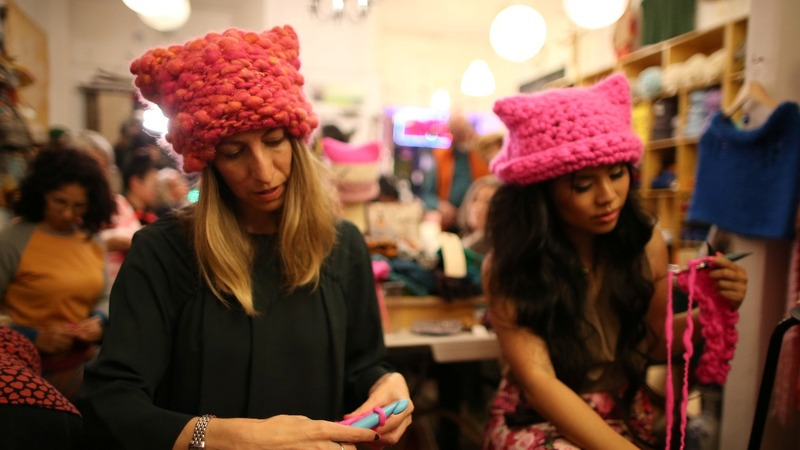 'Pussyhat' protesters headed to DC for post-inauguration rally