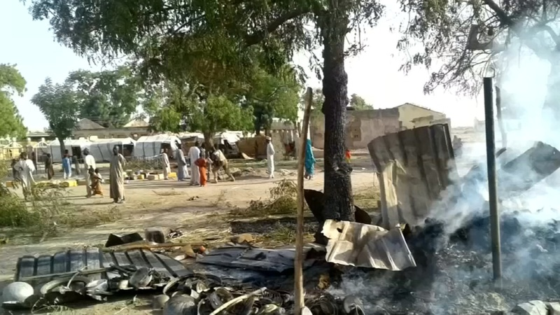 Air strike on Nigeria refugee camp kills dozens