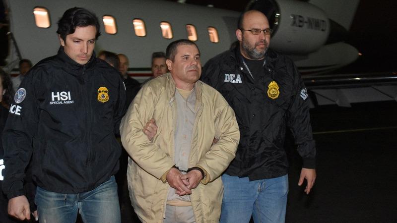Mexican drug kingpin 'El Chapo' arrives in U.S.