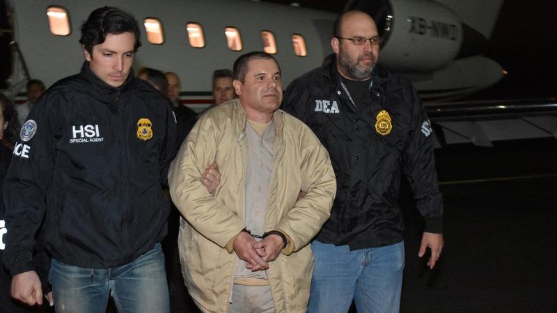 """Mexican drug lord """"El Chapo"""" Guzman in Brooklyn federal court"""