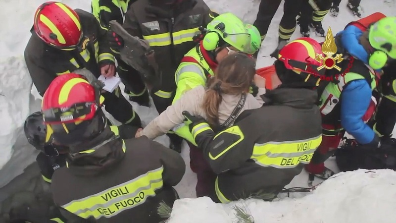 More survivors pulled from Italy avalanche