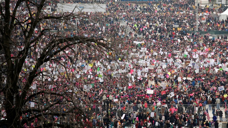 Women stage massive anti-Trump marches worldwide