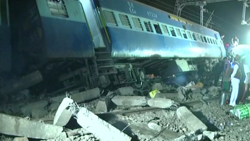 At least 35 dead in India train derailment