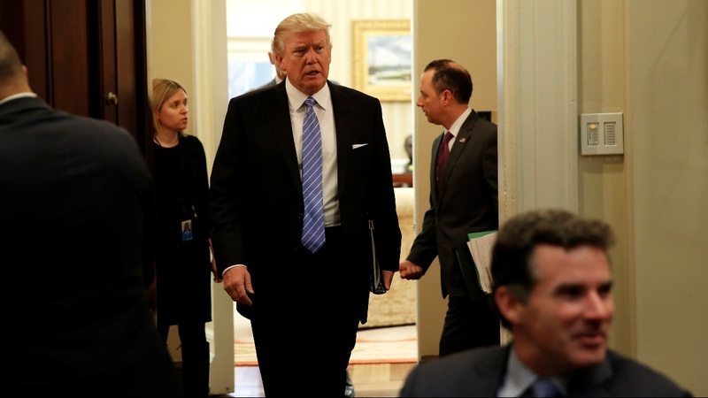 Trump pushes jobs after tough first weekend