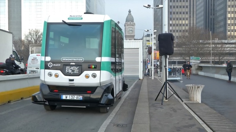 First self-driving bus line opens in Paris