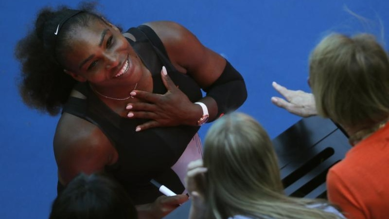 Serena Williams claims historic win