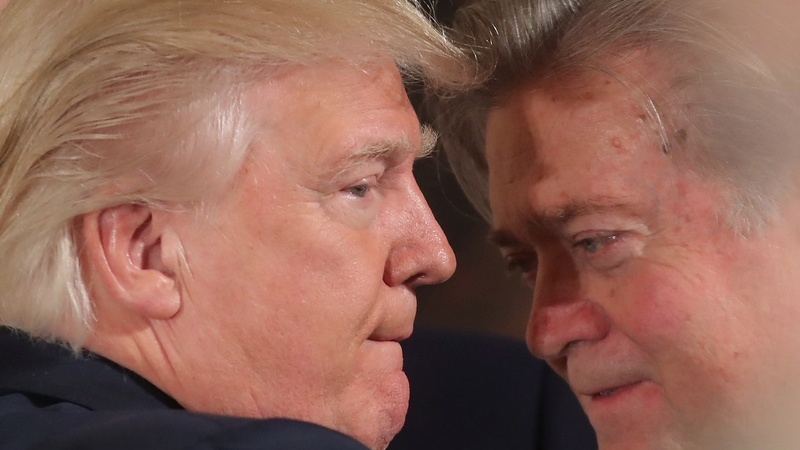 Backlash after Trump promotes strategist Bannon