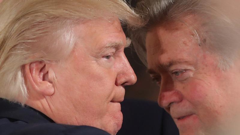 Backlash after Trump promotes strategist Bannon
