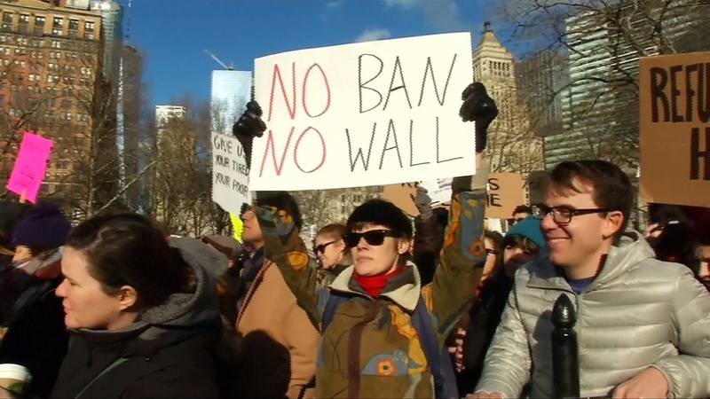 INSIGHT: Thousands rally against Trump in NYC