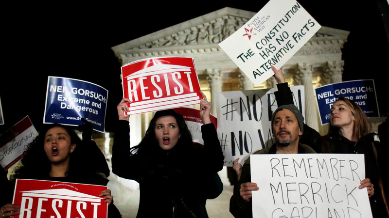 INSIGHT: Protests over Trump at the Supreme Court