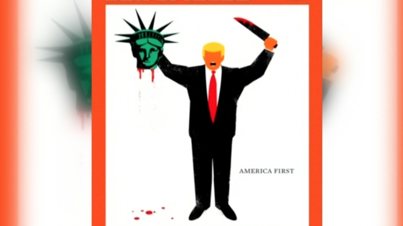 German magazine depicts Trump beheading Lady Liberty