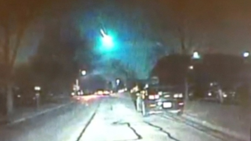 Cameras capture a meteor over Illinois and Wisconsin.