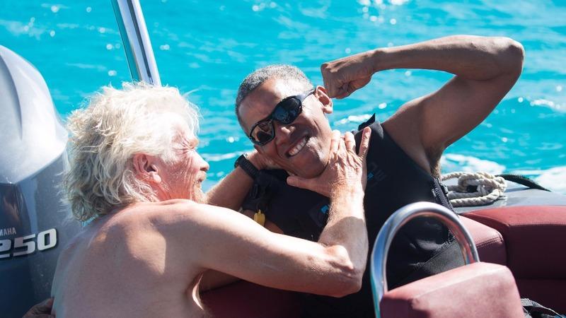 INSIGHT: Barack Obama kiteboards with Richard Branson