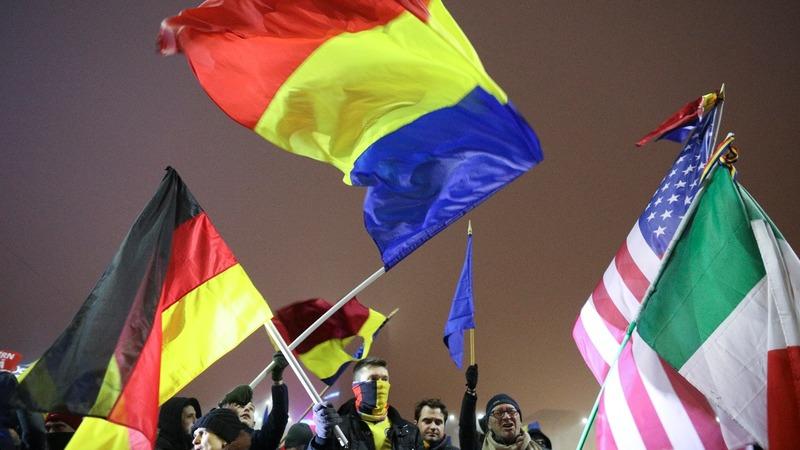 Romania President slams 'kamikaze' government