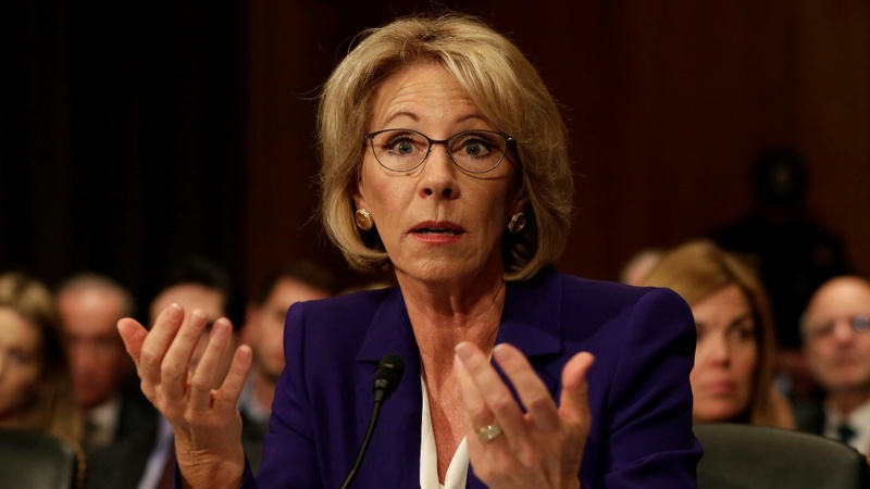 DeVos gets confirmed with a Pence assist