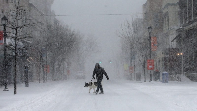 Northeast hit with heavy snowfall