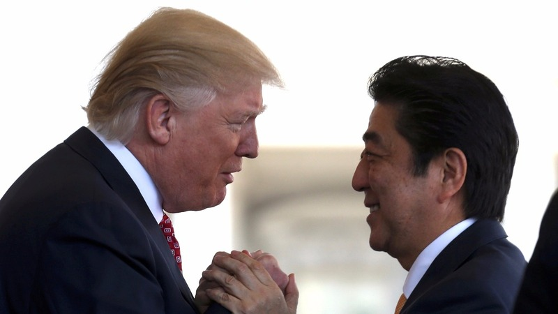Trump reins in rancor for Abe visit