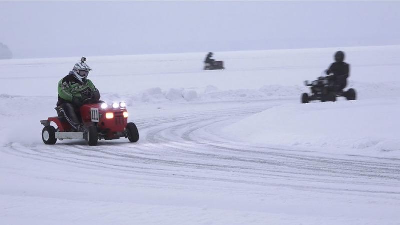 INSIGHT: Estonian women rule lawn mower ice race