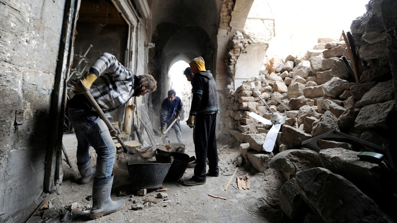 Aleppo's citizens work to save battered heritage