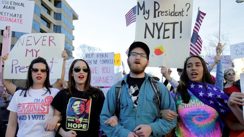 Anti-Trump rallies crop up on 'Not My President's Day'