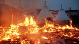 Dakota Access Pipeline camp on fire as eviction looms