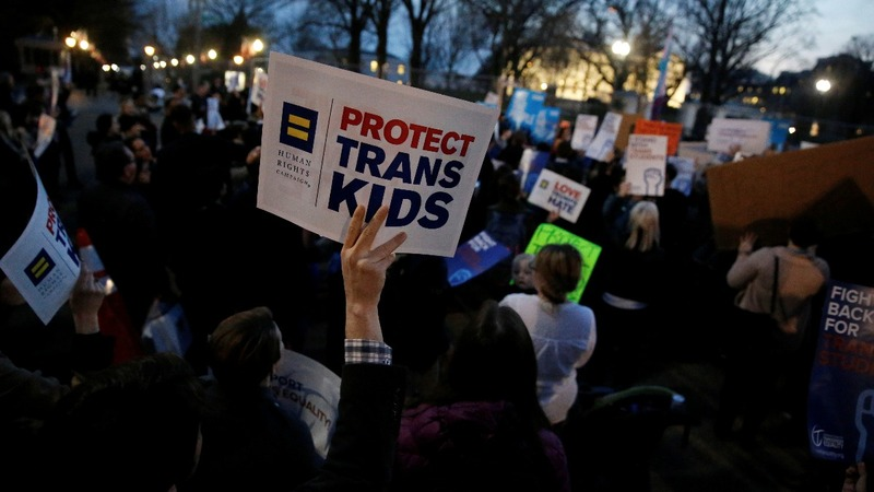 Trump rolls back transgender protections