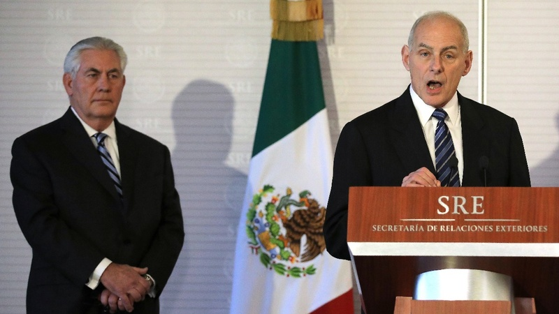 Trying to calm fears in Mexico, U.S. official contradicts Trump