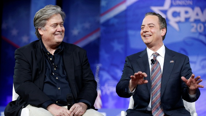Rumored rivals Bannon, Priebus tout unity at CPAC