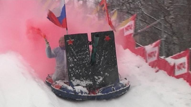 INSIGHT: Russians race at sledding festival