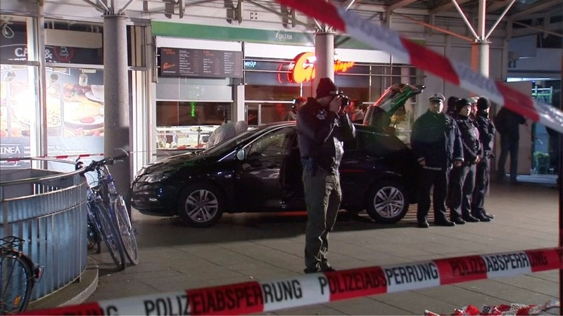 One dead after man plows car into German crowd