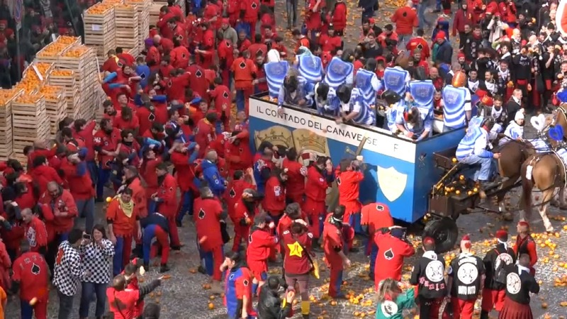 INSIGHT: Italy celebrates carnival with oranges