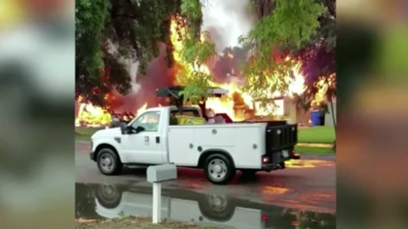 Plane crashes into California neighborhood; three killed