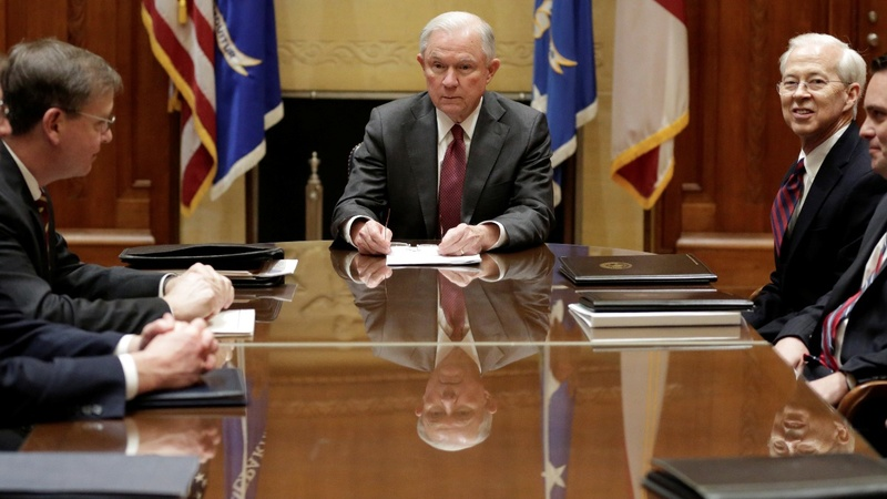 U.S. AG Sessions warns of crime spike despite meager data