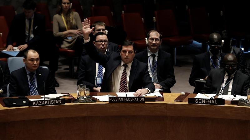 Russia blocks U.N. sanctions on Syria over gas attacks
