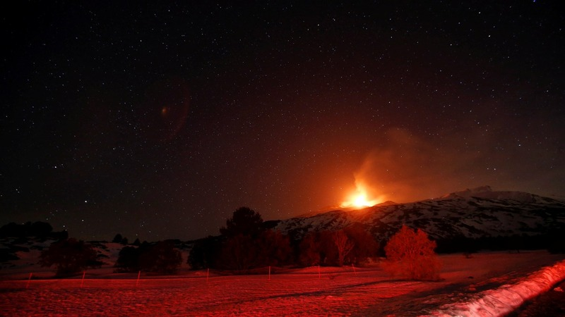 INSIGHT: Humans brave Mount Etna lava