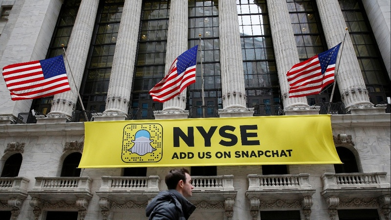 Snap, in highly sought-after IPO, prices above range