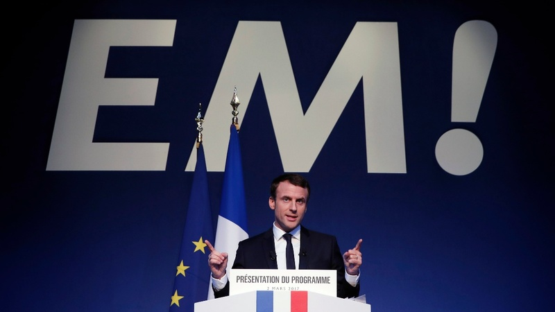 France's Macron presents mould-breaking manifesto