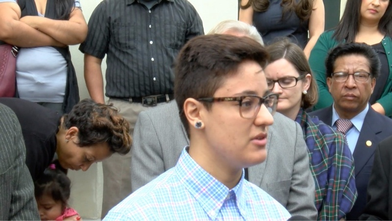 'Dreamer' faces deportation after speech