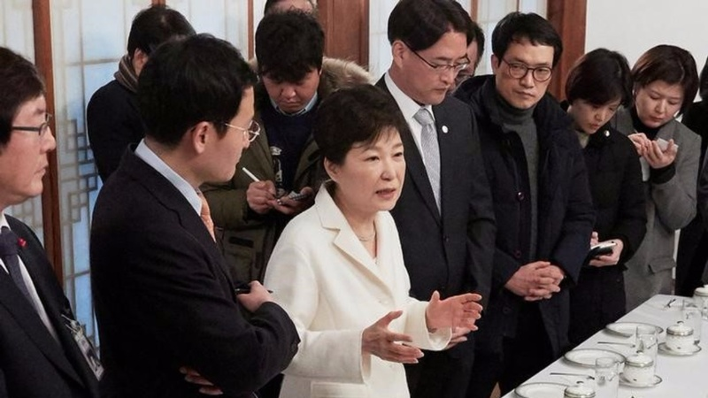 Officials: S. Korea's Park colluded for Samsung bribe