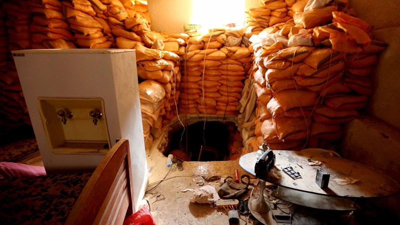 In pictures: Islamic State escape tunnels