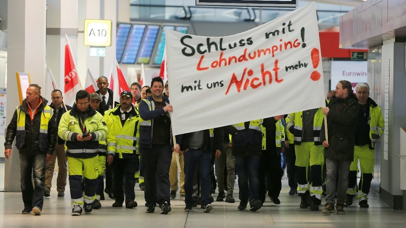 Hundreds of flights cancelled in Berlin strike