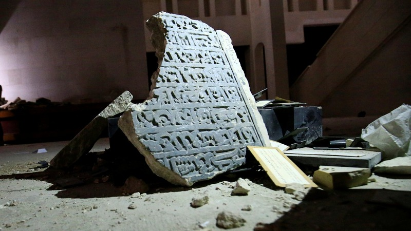 Mosul museum left in ruins